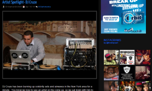 FreddyO interviews NYC DJ Cruze.  Celebrity News/Artist Spotlight for April 2014.